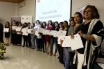 Mujeres fueron certificadas en la clausura de la Escuela de Emprendimiento